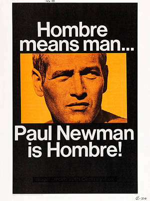 Hombre, Paul Newman On Poster Art Poster