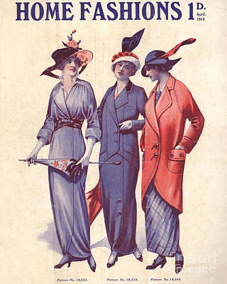 Home Fashion  1917 1910s Uk Womens Poster by The Advertising Archives