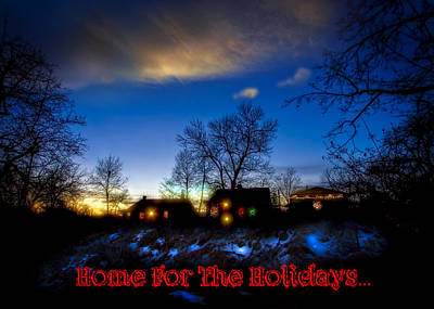 Home For The Holidays Greeting Card Poster