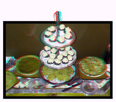 Home For The Holidays - Use Red-cyan 3d Glasses Poster by Brian Wallace
