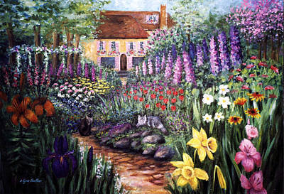 Poster featuring the painting Home Garden by Lynn Buettner