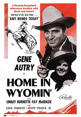 Home In Wyomin, From Top Gene Autry Poster by Everett