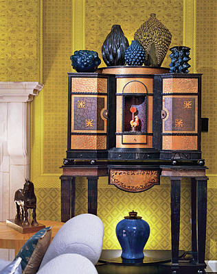Home Interior With Antique Furniture Poster