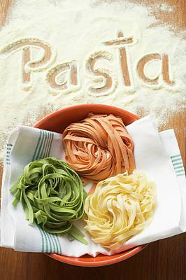 Home-made Ribbon Pasta And The Word 'pasta' Poster