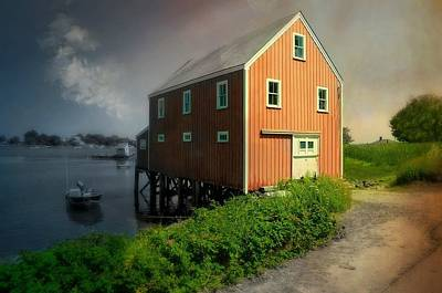 Home On Cape Porpoise Poster by Diana Angstadt