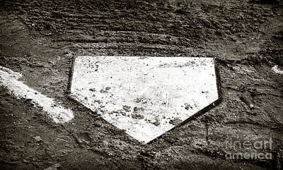 Home Plate Poster by John Rizzuto