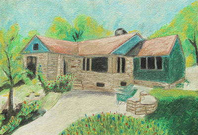 Poster featuring the painting Home Sweet Home by Jeanne Fischer