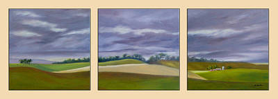 Poster featuring the painting Homeward Bound - Triptych by Jo Appleby