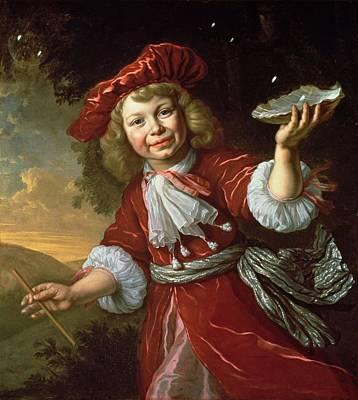 Homo Bulla A Boy Blowing Bubbles, C.1665 Poster by Bartolomeus van der Helst