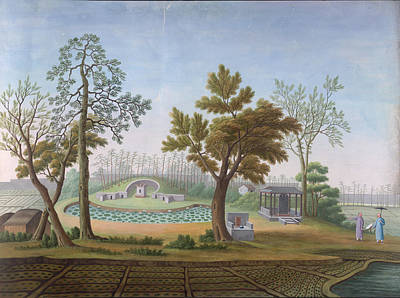 Honam Temple- Garden And Fields Poster by British Library