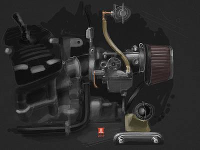 Honda Cx500 Carb Poster