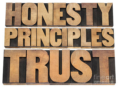 Honesty Principles And Trust Poster