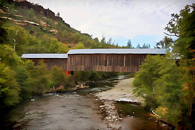 Honey Run Covered Bridge Poster by Ron Roberts