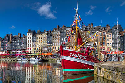 Poster featuring the photograph Honfleur Normandy by Tim Stanley