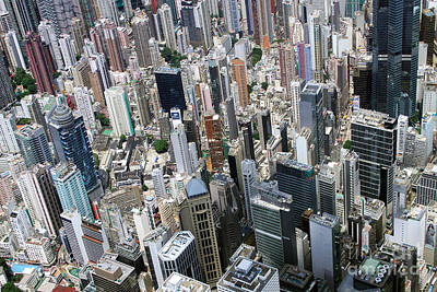 Hong Kong's Density Poster by Lars Ruecker