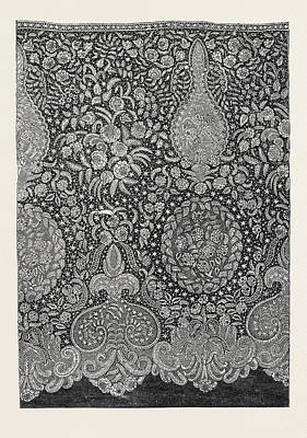 Honiton Lace Flounce, Regent Street London Poster by English School