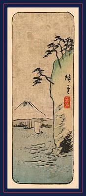 Honmoku Kara No Fuji O Nozomu Poster by Utagawa Hiroshige Also And? Hiroshige (1797-1858), Japanese