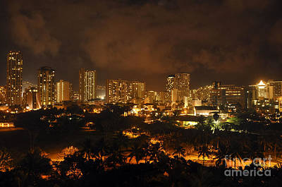 Poster featuring the photograph Honolulu Glow by Gina Savage