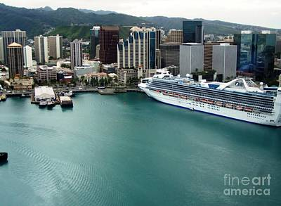 Poster featuring the photograph Honolulu Port by Brigitte Emme