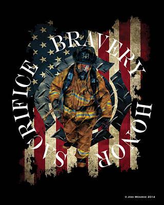 Honor Bravery Sacrifice Poster