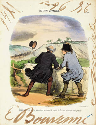 Honoré Daumier And Edouard Bouvenne French Poster by Quint Lox