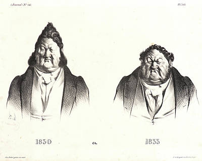 Honoré Daumier French, 1808 - 1879. 1830 Et 1833 Poster by Litz Collection