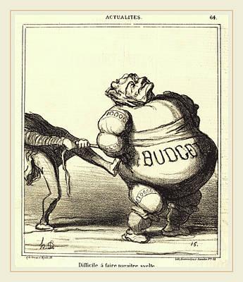 Honoré Daumier French, 1808-1879, Difficile à Faire Poster by Litz Collection