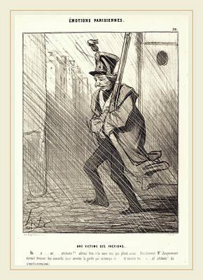 Honoré Daumier French, 1808-1879, Emotions Parisiennes Une Poster by Litz Collection