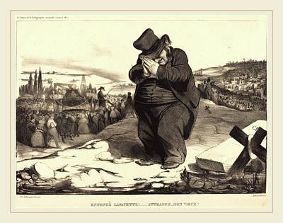 Honoré Daumier French, 1808-1879, Enfoncé Lafayette Poster