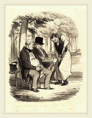 Honoré Daumier French, 1808-1879, Est-il Bon Poster by Litz Collection
