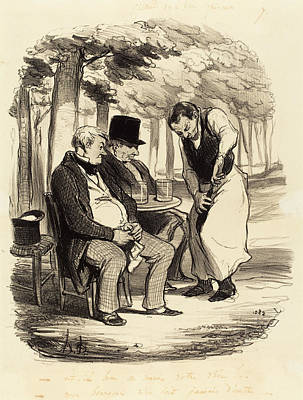 Honoré Daumier French, 1808 - 1879, Est-il Bon Poster by Quint Lox