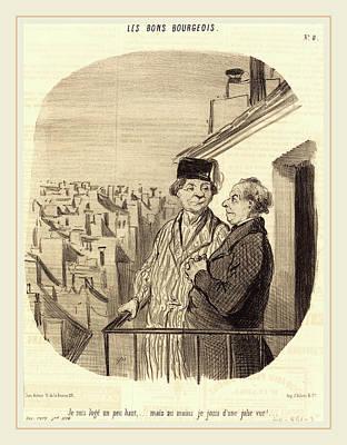 Honoré Daumier French, 1808-1879, Je Suis Logé Un Peu Poster by Litz Collection