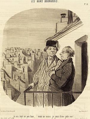 Honoré Daumier French, 1808 - 1879, Je Suis Logé Un Peu Poster by Quint Lox