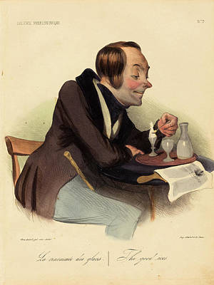 Honoré Daumier French, 1808 - 1879, La Renommée Des Glaces Poster by Quint Lox