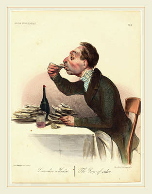 Honoré Daumier French, 1808-1879, Lamateur Dhuitres Poster by Litz Collection