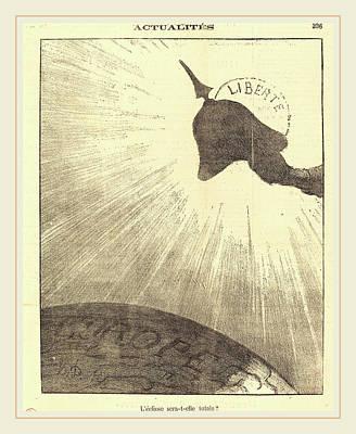 Honoré Daumier French, 1808-1879, Léclipse Sera-t-elle Poster