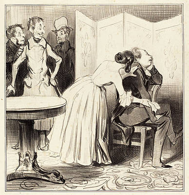 Honoré Daumier French, 1808 - 1879, Le Chevalier Des Poster by Quint Lox