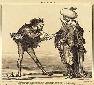 Honoré Daumier French, 1808 - 1879, Lempereur Du Maroc Poster by Quint Lox
