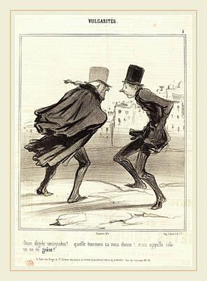 Honoré Daumier French, 1808-1879, Onze Degrés Centigrades Poster by Litz Collection