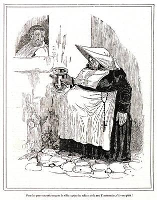 Honoré Daumier French, 1808 - 1879. Pour Les Pauvres Poster by Litz Collection
