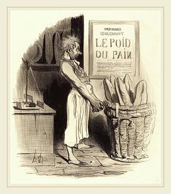 Honoré Daumier French, 1808-1879, Pour Lors Nous Sommes Poster by Litz Collection