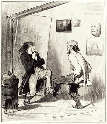Honoré Daumier French, 1808 - 1879, Quand On A Brulé Son Poster by Quint Lox