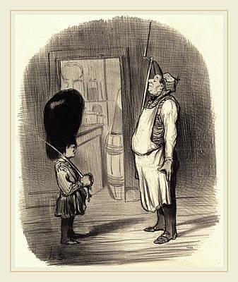 Honoré Daumier French, 1808-1879, Une Famille Chez Qui Poster