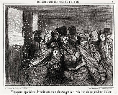 Honoré Daumier, Voyageurs Appréciant De Moins En Moins Poster