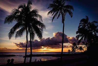 Honu Lagoon Ko Oliina Resort O'ahu Hawaii Poster by Ron Williams