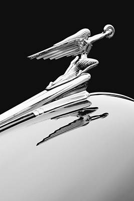 Hood Ornament On 1948 Chevy Poster by Robert Jensen