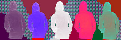 Hoodie Gang Graffiti Fashion Background Designs  And Color Tones N Color Shades Available For Downlo Poster by Navin Joshi