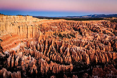 Poster featuring the photograph Hoodoos At Sunrise by Peta Thames