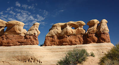 Hoodoos In Devils Garden In Grand Staircase Escalante National Monument Poster