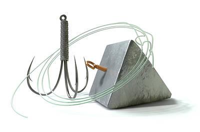 Hook Line And Sinker Poster by Allan Swart